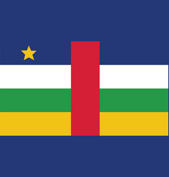 central african republic flag for independence vector image