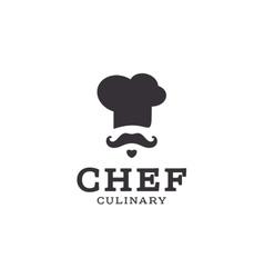 chef cook logo icon toque chefs hat trend vector image