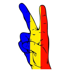 Peace Sign of the Romanian flag vector image vector image