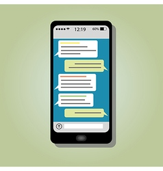 Wireless smartphone chat vector