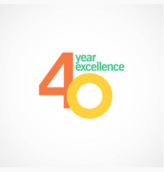40 year anniversary excellence template design vector