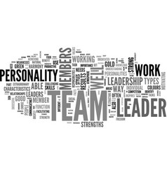 A good leader knows the team s colours text word vector