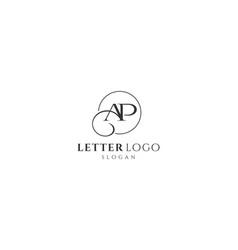 Abstract ap letter logo-ap logo design vector
