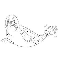 Animal outline for seal vector