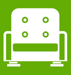 armchair icon green vector image