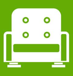 Armchair icon green vector