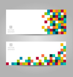 Banner with colorful squares vector