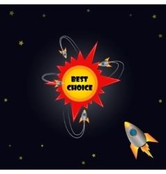 Best choice emblem vector image