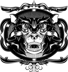 black bear frame vector image