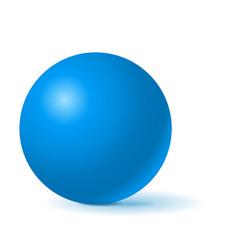 Blue sphere 3d geometric shape vector