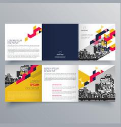 brochure design 599 vector image
