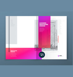 brochure design red corporate business rectangle vector image