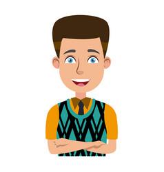 Businessman profile male portrait man character vector