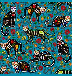 calavera cats vector image