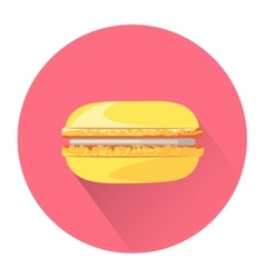 Cartoon macaroon icon vector image