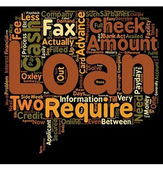 Cash Advance Loans Are The Fees Worth It text vector image