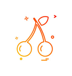cherry icon design vector image