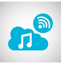 cloud music connection internet concept graphic vector image