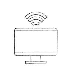 Computer internet news vector