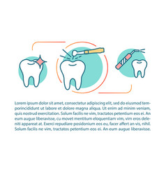 Cosmetic dentistry article page template vector