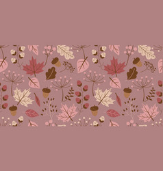 cute autumn pattern vector image