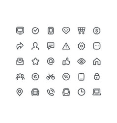 daily communication routine icon set vector image