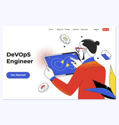 Devops - development cycles automation and vector