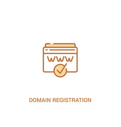 Domain registration concept 2 colored icon simple vector