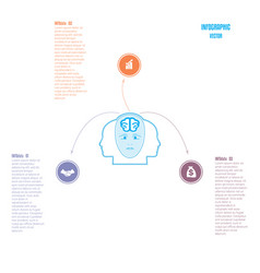 Elements for template brain storm infographics vector
