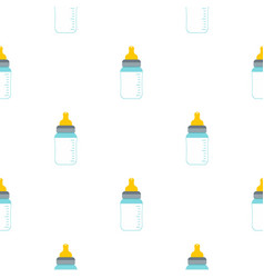 Feeding bottle pattern seamless vector