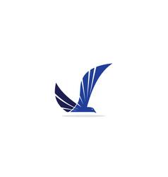 fly bird eagle logo vector image