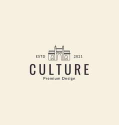Gate culture mosque lines logo design icon symbol vector