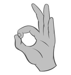 Gesture okay icon black monochrome style vector image
