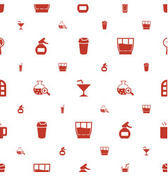 Glass icons pattern seamless white background vector