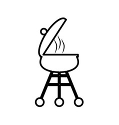 grill bbq picnic cooking outline vector image