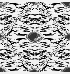 Grunge spotted black and white seamless vector