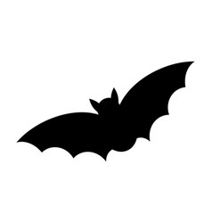 halloween bat silhouette design isolated on vector image