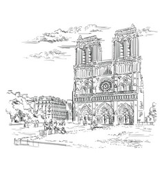 Hand drawing paris 2 vector