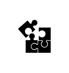 jigsaw puzzle toy flat icon vector image