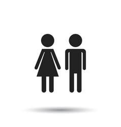 Man and woman icon on white background modern vector
