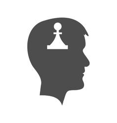 Man head with piece vector image