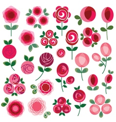 Mod rose clipart vector