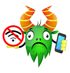 monster without wifi on white background vector image