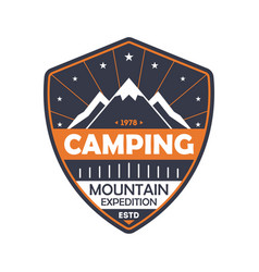 Nature camping vintage isolated badge vector