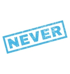 Never Rubber Stamp vector