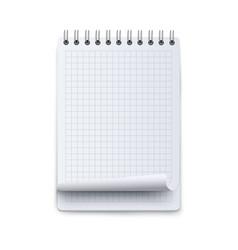 notebook or calendar sheet blank mockup 3d flat vector image