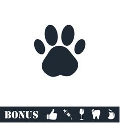 Paw icon flat vector