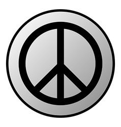 Peace button vector