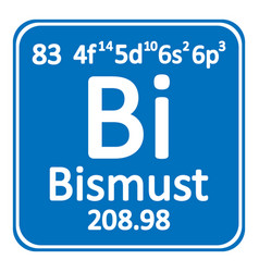 periodic table element bismuth icon vector image