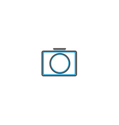 photo camera icon design essential icon vector image